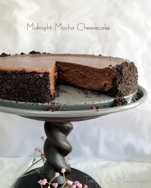 Midnight Mocha Cheesecake from Taking on Magazines