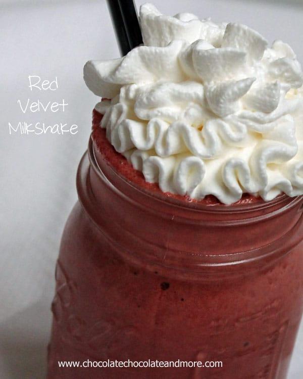 Red Velvet Milkshake-who says you can only enjoy red velvet in cake form!