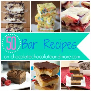 50 Bar Recipes-Because bars take less time to make!