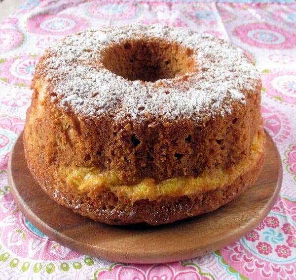 Apple Custard Tea Cake