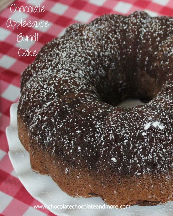Chocolate Applesauce Bundt Cake - Chocolate Chocolate and More!