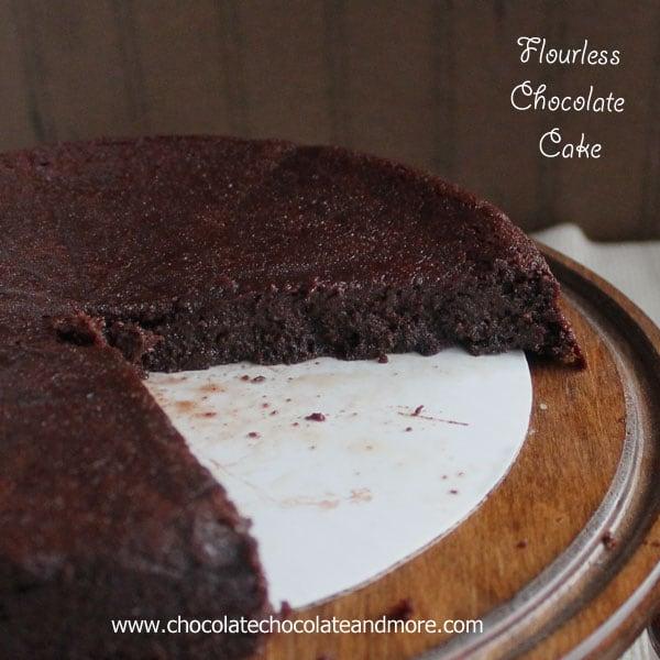 Flourless Chocolate Cake drizzled with Chocolate Ganache