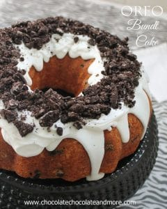 Oreo Cookie and Cream Bundt Cake