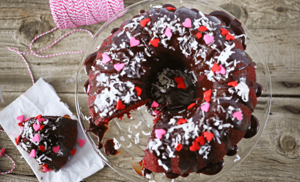 Red Velvet Bundt Cake with Kahlua Glaze