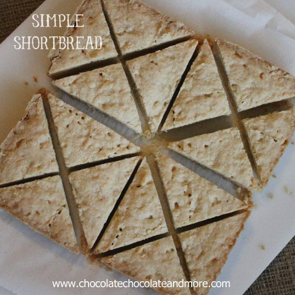 Simple Shortbread-just a few ingredients and you've got a delicious cookie, perfect to serve with coffee or tea.