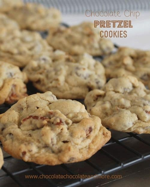 Chocolate Chip Pretzel Cookies-50 Cookie Recipes to Fill Your Cookie Jar | www.chocolatechocolateandmore.com