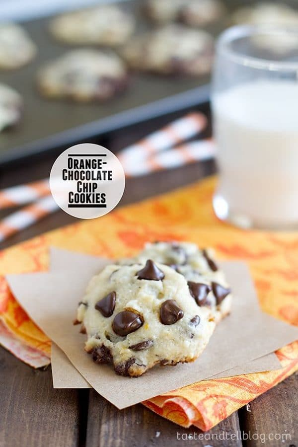 Orange Chocolate Chip Cookies-50 Cookie Recipes to Fill Your Cookie Jar | www.chocolatechocolateandmore.com