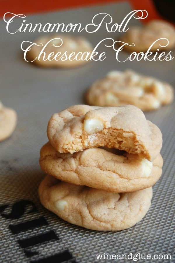 Cinnamon Roll Cheesecake Cookies-50 Cookie Recipes to Fill Your Cookie Jar | www.chocolatechocolateandmore.com