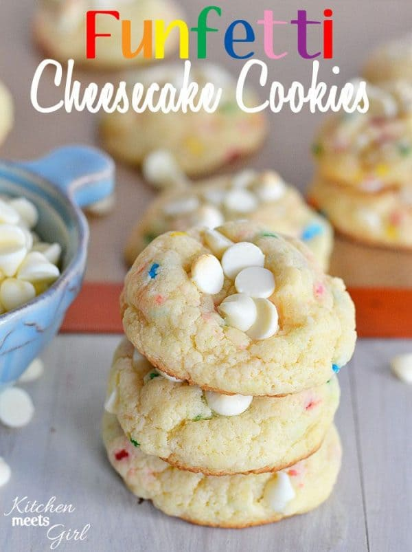 Funfetti Cheesecake Cookies-50 Cookie Recipes to Fill Your Cookie Jar | www.chocolatechocolateandmore.com