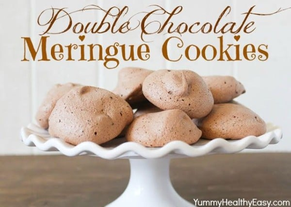 Double Chocolate Meringue Cookies-50 Cookie Recipes to Fill Your Cookie Jar | www.chocolatechocolateandmore.com