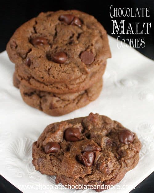 Chocolate malt Cookies-50 Cookie Recipes to Fill Your Cookie Jar | www.chocolatechocolateandmore.com