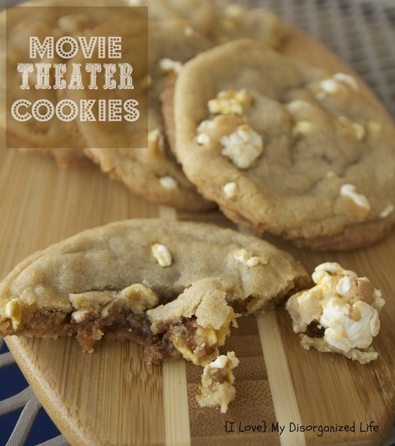Movie Theatre Cookies-50 Cookie Recipes to Fill Your Cookie Jar | www.chocolatechocolateandmore.com