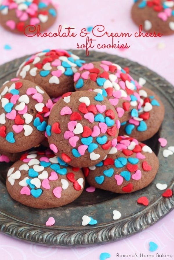 Chocolate and Cream Cheese Soft Cookies-50 Cookie Recipes to Fill Your Cookie Jar | www.chocolatechocolateandmore.com