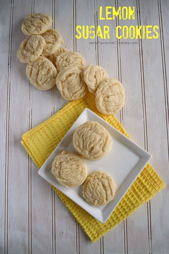 Lemon Sugar Cookies-50 Cookie Recipes to Fill Your Cookie Jar | www.chocolatechocolateandmore.com
