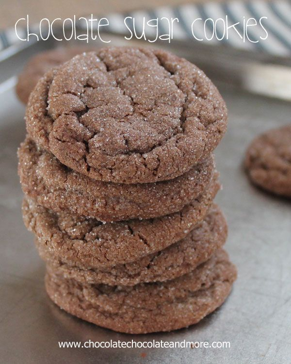 Chocolate Sugar Cookies-50 Cookie Recipes to Fill Your Cookie Jar | www.chocolatechocolateandmore.com