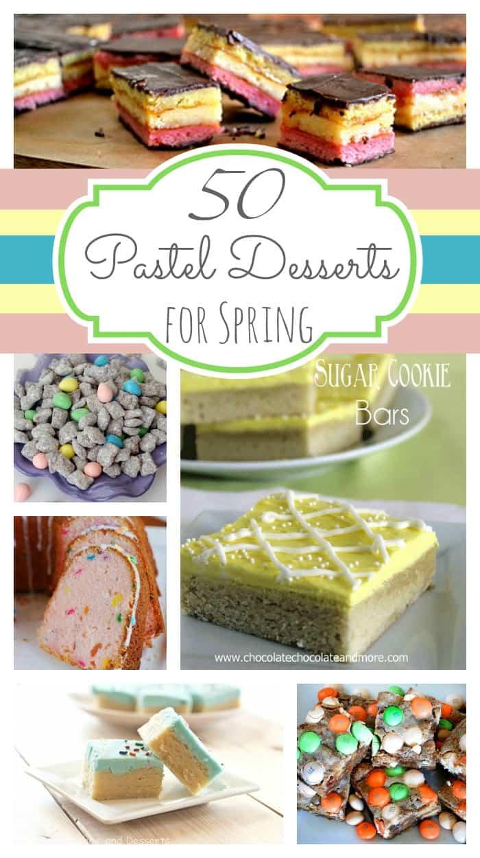 50 pastel Desserts for Spring