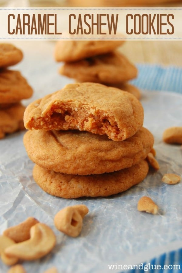 Caramel Cashew Cookies-50 Cookie Recipes to Fill Your Cookie Jar | www.chocolatechocolateandmore.com