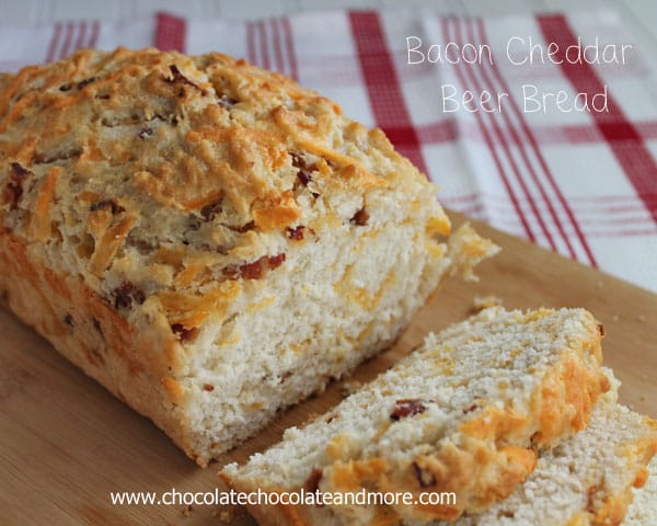 Bacon Cheddar Beer Bread-The addition of Bacon and Cheddar to this ...