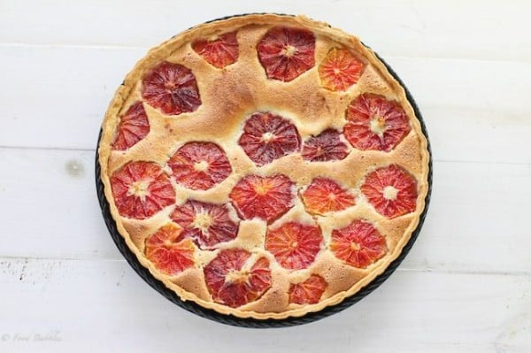 Blood Orange Almond Tart