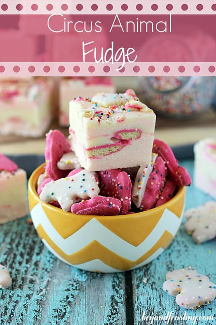 50 Pastel Desserts for Spring: Circus Animal Fudge