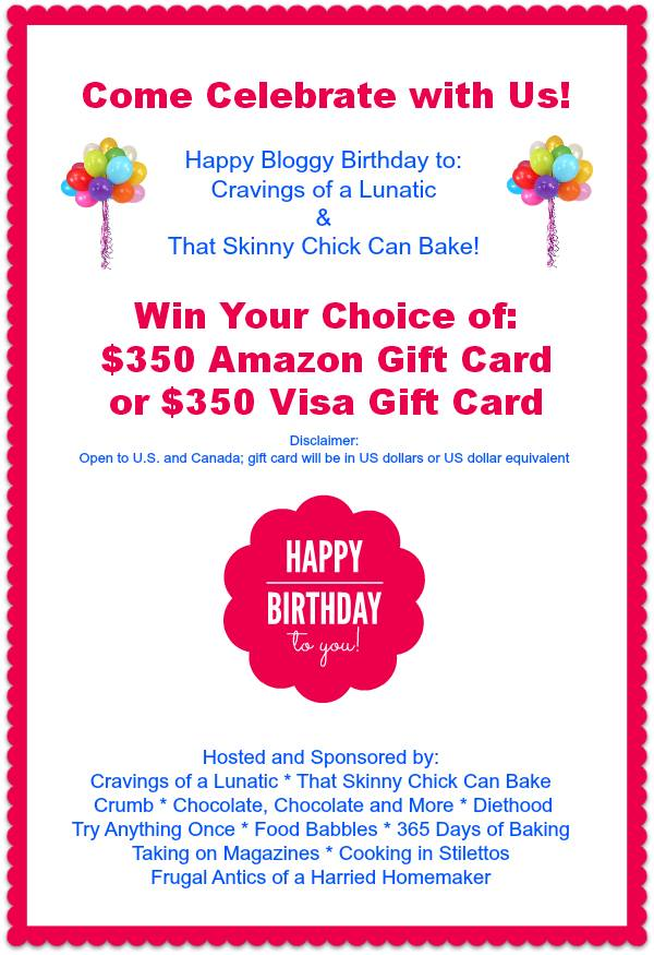 Cravings skinny chick birthday giveaway
