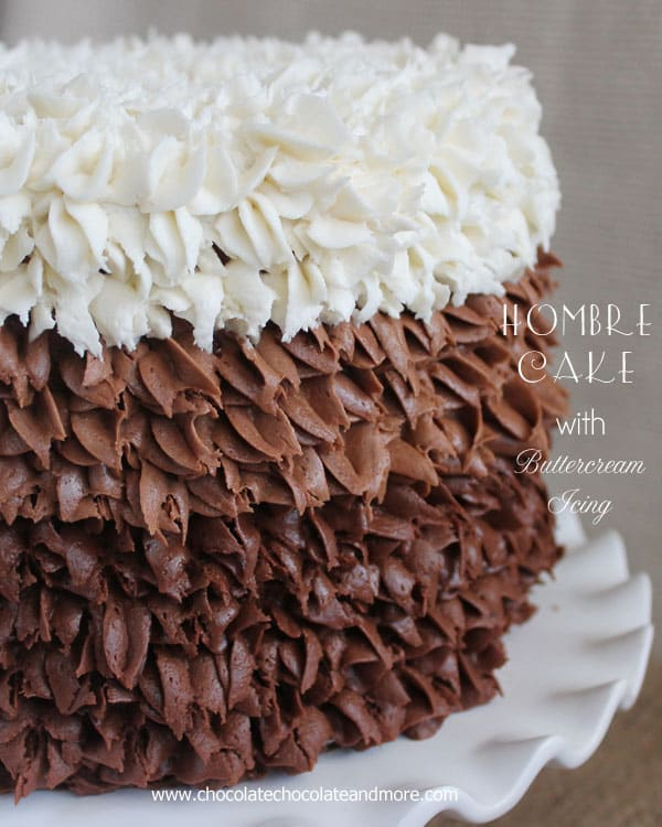 How To Design A Cake Using Butter Icing : Ombre Cake with Buttercream Frosting - Chocolate Chocolate ...
