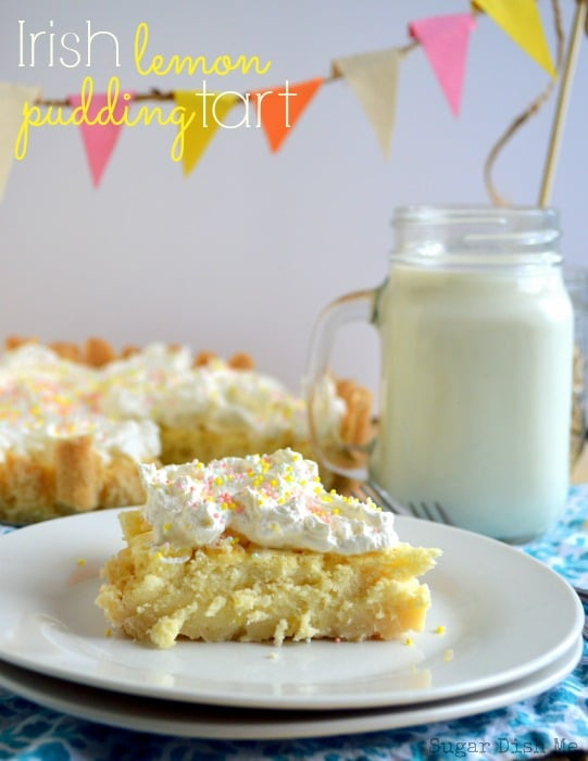 50 Pastel Desserts for Spring: Irish Lemon Pudding Tart