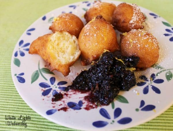 Lemon Ricotta Fritters from White Lights on Wednesday