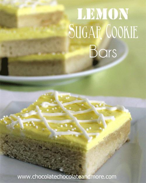 50 Pastel Desserts for Spring: Lemon Sugar Cookies Bars