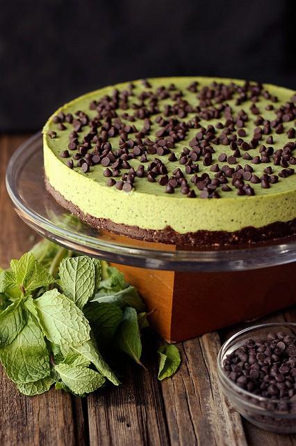 50 Pastel Desserts for Spring: Mint Chocolate Chip Cashew Cream Cake