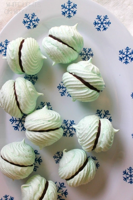 50 Pastel Desserts for Spring: Mint Meringue Kisses