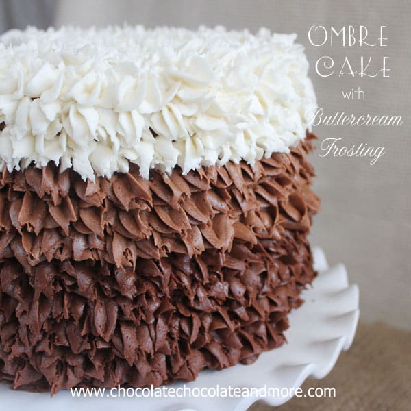 Ombre Cake with Buttercream Frosting
