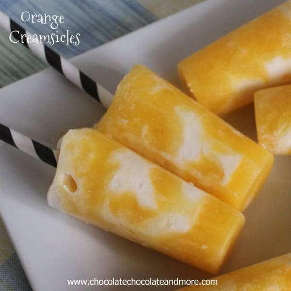 Orange Creamsicles-Orange juice and Ice Cream-perfect for cooling off on a hot day!