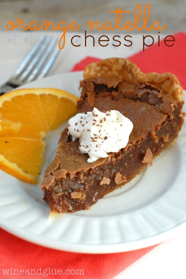 Orange Nutella Chess Pie