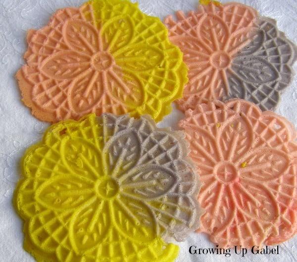 50 Pastel Desserts for Spring: Pastel Pizzelles