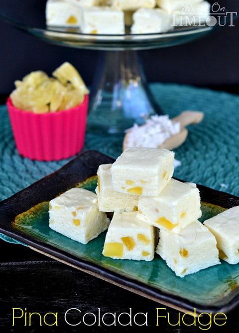 50 Pastel Desserts for Spring: Pina Colada Fudge