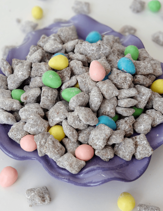50 Pastel Desserts for Spring: Reese's Easter Egg Puppy Chow