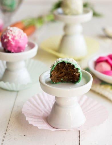 50 Pastel Desserts for Spring: Skinny Carrot Cake Truffles