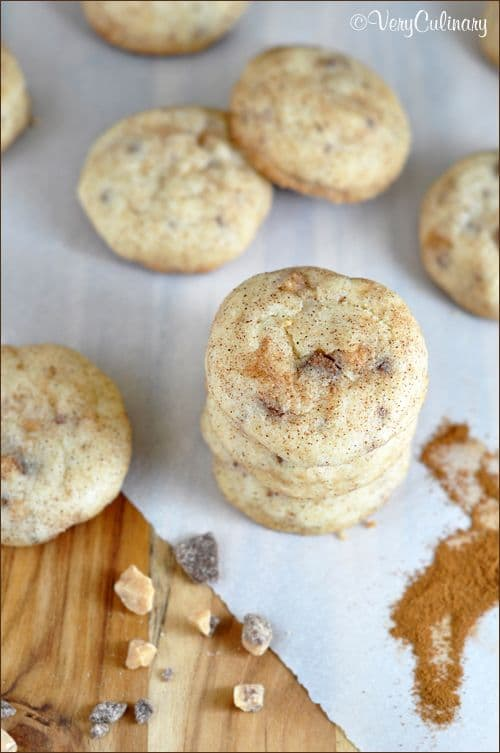 Toffee Specled Snickerdoodles-50 Cookie Recipes to Fill Your Cookie Jar | www.chocolatechocolateandmore.com