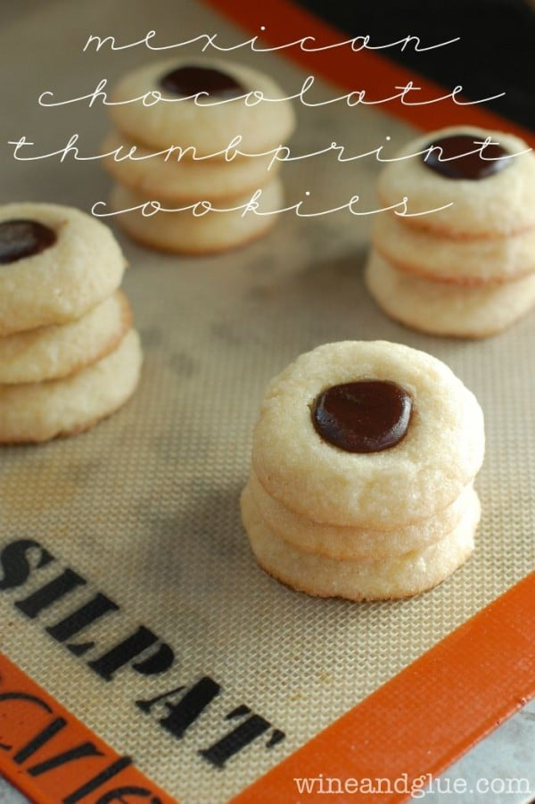 Mexican Chocolate Thumbprint Cookies-50 Cookie Recipes to Fill Your Cookie Jar | www.chocolatechocolateandmore.com