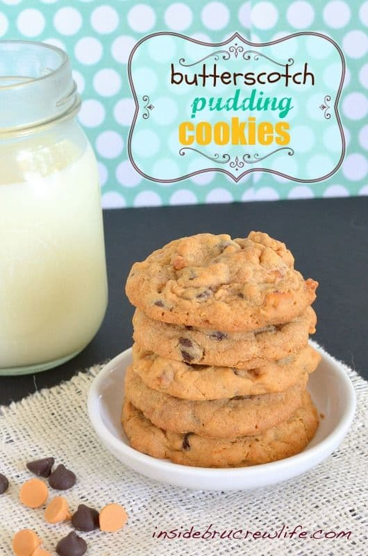 Butterscotch Pudding Cookies-50 Cookie Recipes to Fill Your Cookie Jar | www.chocolatechocolateandmore.com
