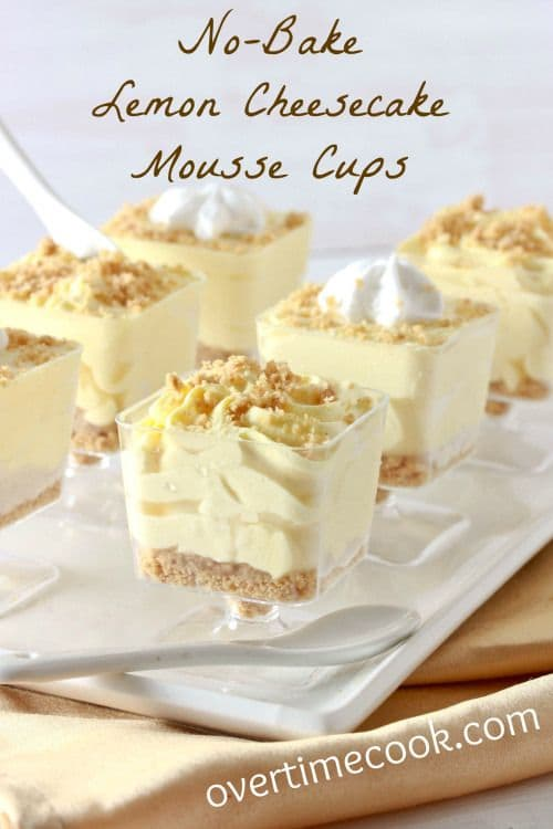 no bake lemon cheesecake mousse