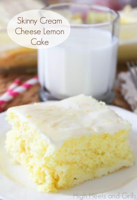 skinny cream cheese lemon cake