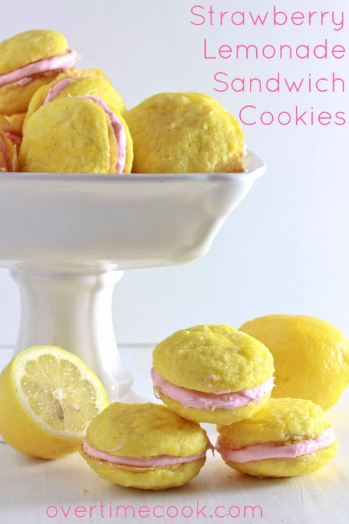 50 Pastel Desserts for Spring: Strawberry Lemonade Sandwich Cookies