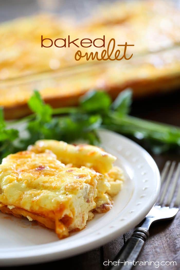 50 Easy to Make Breakfast Recipes: Baked Cheese Omelet