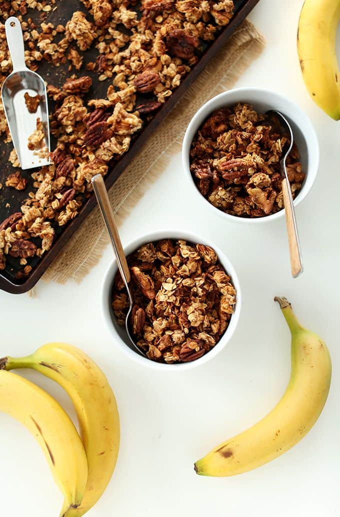 50 Easy to Make Breakfast Recipes: Banana Bread Granola