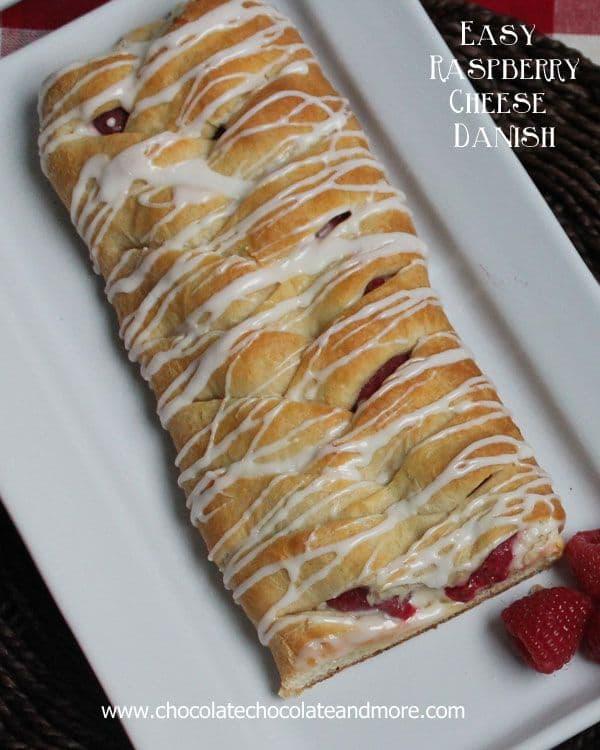 50 Easy to Make Breakfast Recipes: Braided Raspberry Cheese Danish