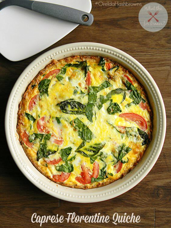 50 Easy to Make Breakfast Recipes: Caprese Florentine Quiche