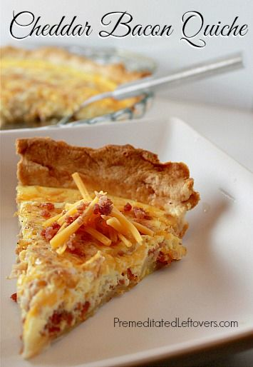 50 Easy to Make Breakfast Recipes: Cheddar Bacon Quiche