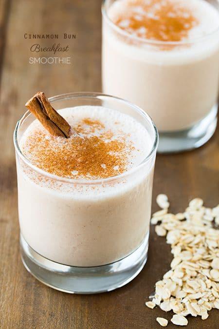 50 Easy to Make Breakfast Recipes: Cinnamon Bun Breakfast Smoothie